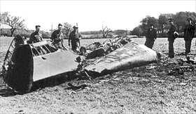 Rudolf Hess's Wrecked Messerschmitt Bf 110D, Scotland, May 1941