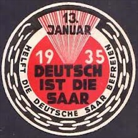 Nazi Party campaign piece, Saarland, 1934–35