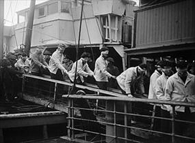 Battle of the North Cape: Scharnhorst survivors, Scapa Flow, Scotland, 1-2-44