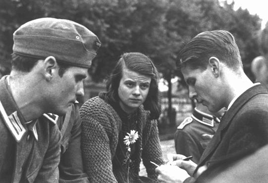 Hans and Sophie Scholl and Christoph Probst, 1942