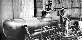 Seehund midget submarine in pen
