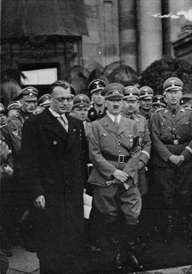 Arthur Seyss-Inquart with Hitler, Vienna, 1938