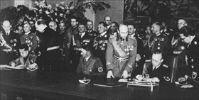 Signing Pact of Steel, Berlin, May 22, 1939