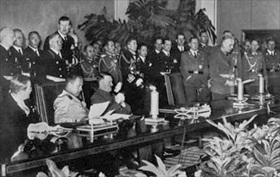 Signing Tripartite Pact, Berlin, September 1940