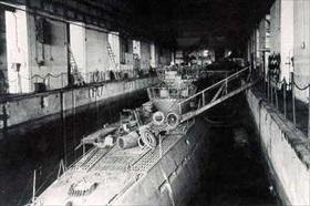 View inside a St. Nazaire U-boat pen
