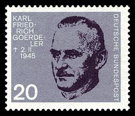 Karl Friedrich Goerdeler, member, German resistance, 1884–1945