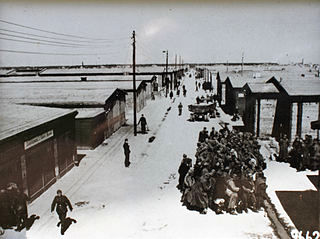 Prisoner of war camp: Stalag IV-B street scene