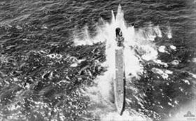 U-71 under attack on June 5, 1942