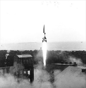 V-2 rocket launch at Peenemuende, March 1942