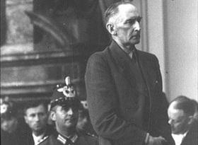Field Marshal Erwin von Witzleben shortly before sentencing