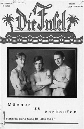 """Gay-oriented journal """"Die Insel,"""" December 1930"""
