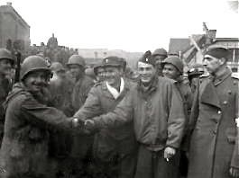 Prisoner of war camp: Freed POWs at Stalag XIII-C