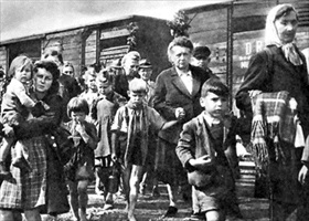 Sudeten Germans expelled from Czechoslovakia, probably 1945
