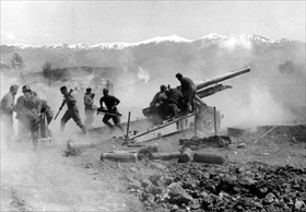 Balkans Campaign: German artillery in Greece, 1941
