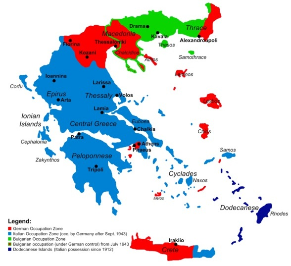 Greece and Crete, 1941–1945