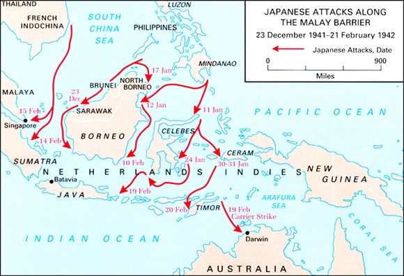 Dutch East Indies and Australia under attack, January–February 1942