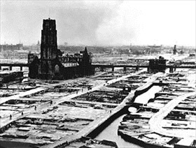Rotterdam, Holland, after its destruction, 1940
