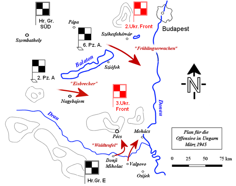 German Plattensee offensive, March 6–16, 1945