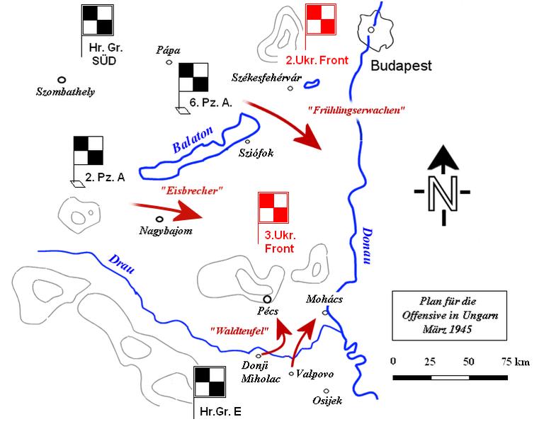 German Plattensee offensive, March 6–16, 1945
