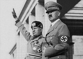 Mussolini and Hitler, Munich, September 1937