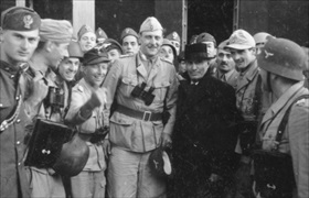 Skorzeny and Mussolini, Campo Imperatore Hotel, September 12, 1943