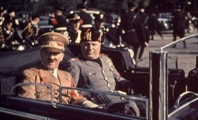 Adolf Hitler and Benito Mussolini, Florence, Italy, 1938