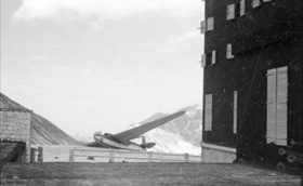 Crashed gliders, Campo Imperatore Hotel, 1943