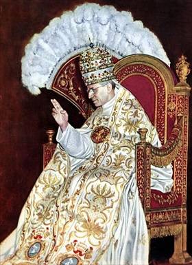 Eugenio Pacelli's coronation as Pope Pius XII, Rome, March 12, 1939