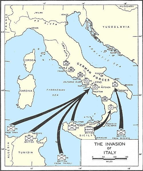 Allied invasion of Mainland Italy, September 1943