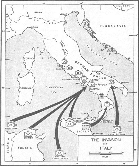 Invasion of Mainland Italy, September 1943