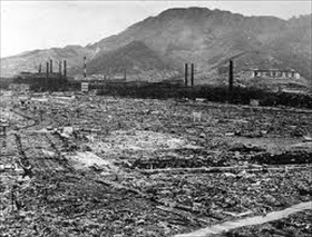 Nagasaki A-bomb: Mitsubishi Steel and Armament Works after destruction