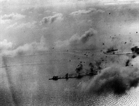 Battle of the Philippine Sea: Japanese carrier group under attack, June 20, 1944