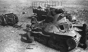 Captured Japanese light tank, Khalkhyn Gol, 1939