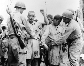 Japanese POWs in Manila, 1945