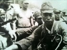 Japanese POW in Borneo, 1945