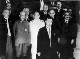 Konoe and cabinet ministers, July 1940