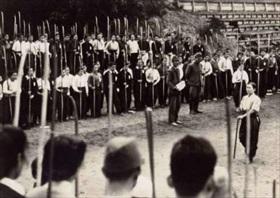 Ketsu-Go: Student militia at Kujukurihama, Chiba prefecture, 1945