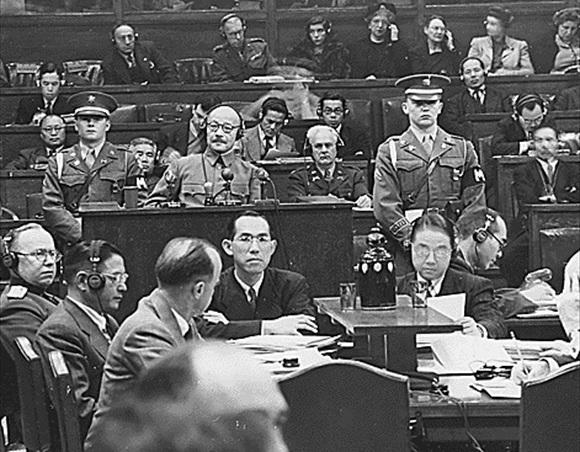 Tōjō at Tokyo war crimes trial