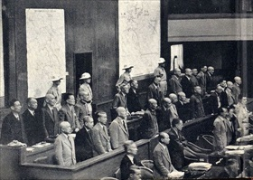 Tokyo Trial defendants in the dock
