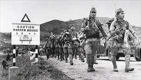 Fall of Hong Kong: Japanese troops march into the New Territories, December 1941