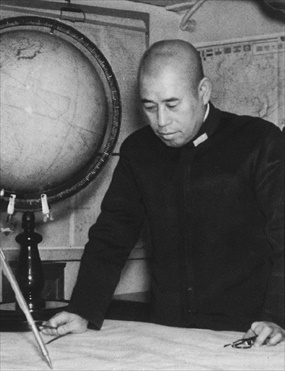 Yamamoto at naval planning meeting, 1940