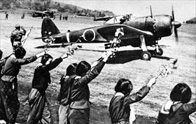 Japanese kamikaze pilots: Schoolgirls bid farewell to pilot