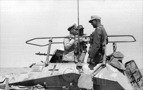Western Desert Campaign: Rommel in command vehicle, June 1942