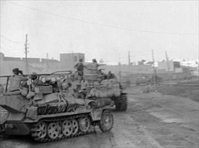 Afrika Korps entering Tobruk, Libya, June 1942