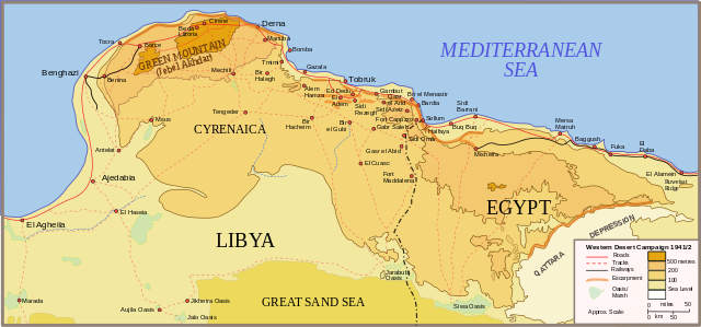 Cyrenaica (Eastern Libya) and Western Egypt, 1941
