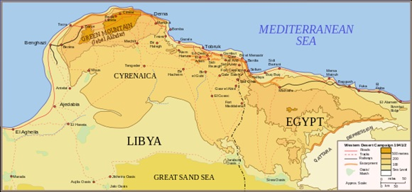Eastern Libya and Western Egypt, 1941
