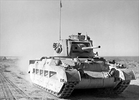 British Matilda tank advancing through Egypt as part of Operation Compass