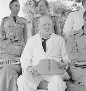 Churchill with his military advisers, Cairo, August 5, 1942