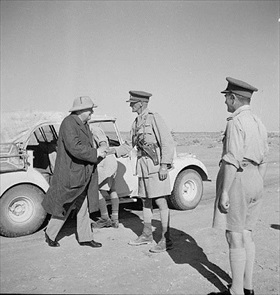 Churchill at El Alamein front, August 1942