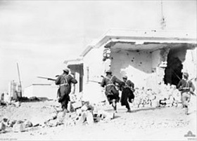 Opera­tion Com­pass: Australian troops enter Bardia, Libya, January 1941